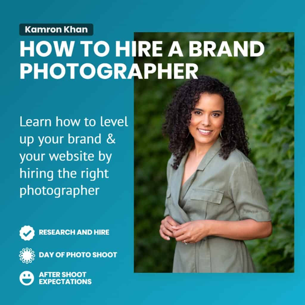 how to hire a brand photographer